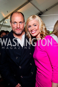 Woody Harrelson, Pamela Brown. 2012 Tammy Haddad WHCD Garden Brunch. Photo by Tony Powell. Beall-Washington House. April 28, 2012