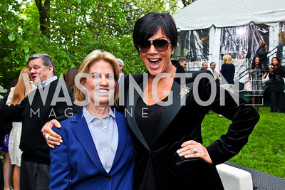 Greta Van Susteren, Kris Jenner. 2012 Tammy Haddad WHCD Garden Brunch. Photo by Tony Powell. Beall-Washington House. April 28, 2012