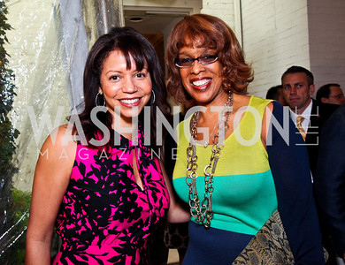 Actress Gloria Reuben, CBS This Morning co-anchor Gayle King. 2012 Tammy Haddad WHCD Garden Brunch. Photo by Tony Powell. Beall-Washington House. April 28, 2012