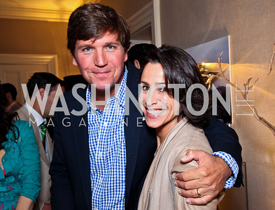 Tucker Carlson, Susan Toffler. 2012 Tammy Haddad WHCD Garden Brunch. Photo by Tony Powell. Beall-Washington House. April 28, 2012