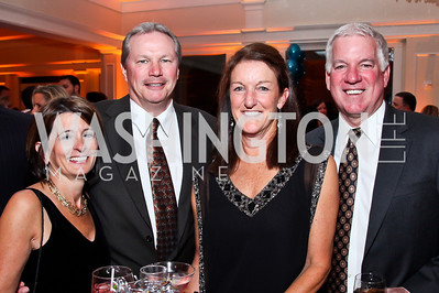 Paula and Don Franz, Holly and John Flynn. Photo by Tony Powell. Wings of Hope Gala. Trump National Golf Club. November 3, 2012