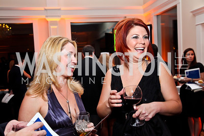 Tracy Melton, Karley Sonnhalter. Photo by Tony Powell. Wings of Hope Gala. Trump National Golf Club. November 3, 2012