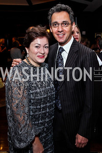 Cidalia and Masud Akbar. Photo by Tony Powell. Wings of Hope Gala. Trump National Golf Club. November 3, 2012
