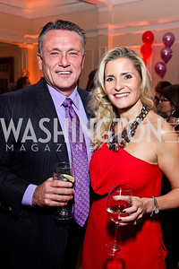 Chad and Natalie MacDonald. Photo by Tony Powell. Wings of Hope Gala. Trump National Golf Club. November 3, 2012