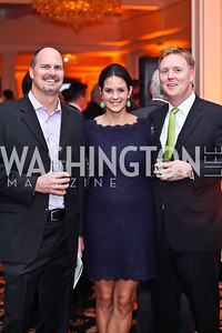 Kevin Wiles, Krista and Patrick Cunningham. Photo by Tony Powell. Wings of Hope Gala. Trump National Golf Club. November 3, 2012