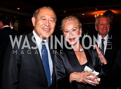 Japan Amb. Ichiro Fujisaki, Norma Tiefel. 2012 Woodrow Wilson Award for Public Service. Photo by Tony Powell. Four Seasons. April 26, 2012