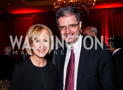 Judy Woodruff, French Amb. François Delattre. 2012 Woodrow Wilson Award for Public Service. Photo by Tony Powell. Four Seasons. April 26, 2012
