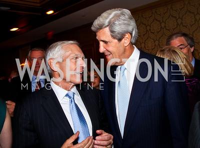 General Wesley Clark, Senator John Kerry. 2012 Woodrow Wilson Award for Public Service. Photo by Tony Powell. Four Seasons. April 26, 2012