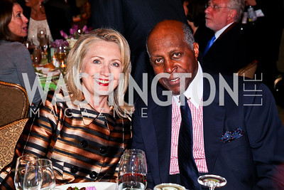 Hillary Clinton, Vernon Jordan. 2012 Woodrow Wilson Award for Public Service. Photo by Tony Powell. Four Seasons. April 26, 2012