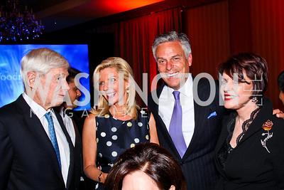 Fred Malek, Mary Kaye and John Huntsman, Marlene Malek. 2012 Woodrow Wilson Award for Public Service. Photo by Tony Powell. Four Seasons. April 26, 2012