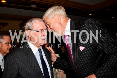 Amb. Joseph Gildenhorn, C. Thomas McMillen. 2012 Woodrow Wilson Award for Public Service. Photo by Tony Powell. Four Seasons. April 26, 2012