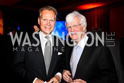 Rep. David Dryer, Al Hunt. 2012 Woodrow Wilson Award for Public Service. Photo by Tony Powell. Four Seasons. April 26, 2012