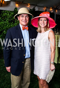 Josh and Blair Bourne. Woodrow Wilson House Perennial Garden Party. Photo by Tony Powell. May 16, 2012