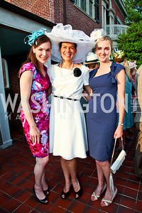 Elizabeth Moeller, Stephanie Polis, Britlan Malek. Woodrow Wilson House Perennial Garden Party. Photo by Tony Powell. May 16, 2012