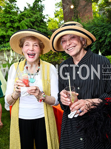 Nona Shepard, Elinor Berg. Woodrow Wilson House Perennial Garden Party. Photo by Tony Powell. May 16, 2012