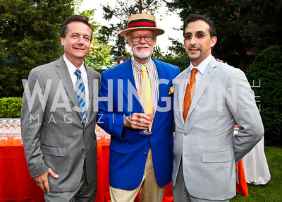 Martin Gammon, C. Braxton Moncure, Estevan Rael-Galvez. Woodrow Wilson House Perennial Garden Party. Photo by Tony Powell. May 16, 2012