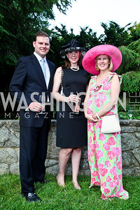 Dean and Ashley Sands, Catherine Tracy. Woodrow Wilson House Perennial Garden Party. Photo by Tony Powell. May 16, 2012