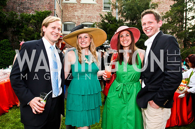 Rory Pillsbury, Lauren Pomponio, Carissa Maguire, Chris Borgeson. Woodrow Wilson House Perennial Garden Party. Photo by Tony Powell. May 16, 2012