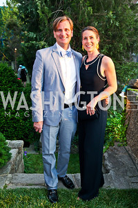 Reid Dunavant, Samira Farmer. Woodrow Wilson House Perennial Garden Party. Photo by Tony Powell. May 16, 2012