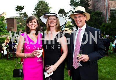 Linda Range, Co-chairs Vicky and Chip Magid. Woodrow Wilson House Perennial Garden Party. Photo by Tony Powell. May 16, 2012