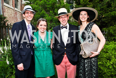 Graham Green, Nikki McArthur, Brian Cahill, Lisa Manning. Woodrow Wilson House Perennial Garden Party. Photo by Tony Powell. May 16, 2012
