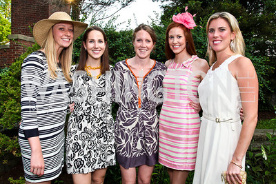 Christine Gasparich, Annie Jackson, Flynn Millard, Liz Mustin, Devon Rodonets. Woodrow Wilson House Perennial Garden Party. Photo by Tony Powell. May 16, 2012