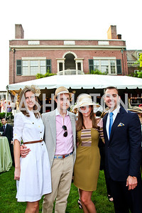 Brittany Prime, Will Rabbe, Ashley and Mike Gula. Woodrow Wilson House Perennial Garden Party. Photo by Tony Powell. May 16, 2012