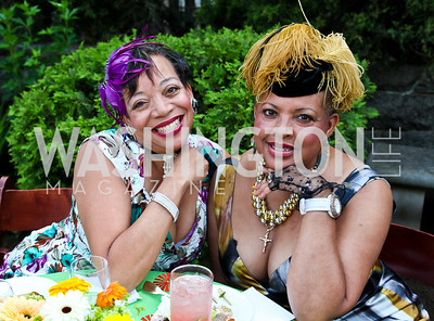 Jacqueline Smith, Dr. Dianne McRae. Woodrow Wilson House Perennial Garden Party. Photo by Tony Powell. May 16, 2012