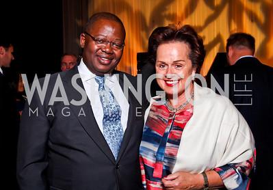 Gabon Amb. Michael Moussa-Adamo, Liechtenstein Amb. Claudia Fritsche. Photo by Tony Powell. 2012 after dark@ THEARC. September 15, 2012