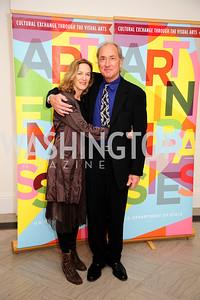 Susan Scharfman,Geoffrey Pagen,November 30,2012,50th Anniversary of Arts in the Embassies,Kyle Samperton