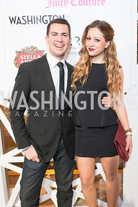 Alan Ruesga Pelayo, Mollie Young. 7th Annual Young and the Guest List. Photo by Alfredo Flores. Arena Stage. December 17, 2012