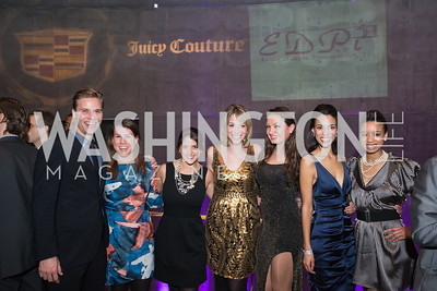 Clay Wertheimer, Meg Freshwater, Natalie Bookey-Baker, Lauren Vrazilek, Fran Holuba, Kyla Griffith, Ashley Williams. 7th Annual Young and the Guest List. Photo by Alfredo Flores. Arena Stage