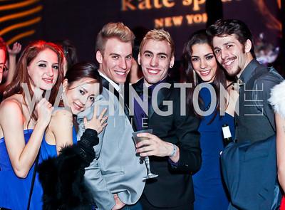 Esmiana Jani, Ayano Kimura, Zack Lynch, Daniel Savetta, Francesca Forcella, Corey Landolt. Photo by Tony Powell. YGL. Arena Stage. December 17, 2012