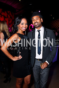 ABC 7 News anchor Cynne Simpson, Adrian Loving. Photo by Tony Powell. YGL. Arena Stage. December 17, 2012