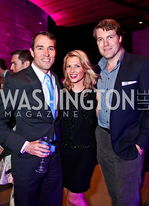 ABC7 News political reporter Scott Thuman, Katherine Kennedy, Grant Allen. Photo by Tony Powell. YGL. Arena Stage. December 17, 2012
