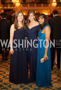 Event Cochairs Jordan Daniels, Paige Lovejoy, Nina Ravi at the 87th Annual Georgetown University Diplomatic Dance