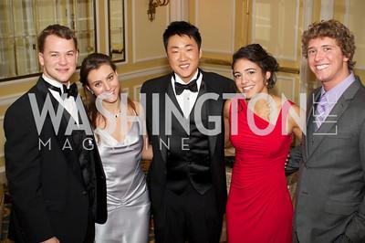 Wes Bayer, Sara Deblasio, David Liu, Xochicl Ledesma Michael Lienhard  at the 87th Annual Georgetown University Diplomatic Dance