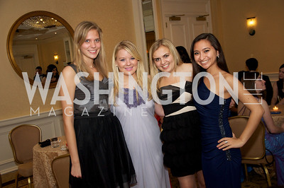 R-L Katherine Amigo, Sarah Benson, Elizabeth Buffone,  Kendall Ciesemier,  at the 87th Annual Georgetown University Diplomatic Dance