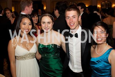 Rebecca Hong, Sari Frankel, Alex  Pommier, Elaine Li at the 87th Annual Georgetown University Diplomatic Dance