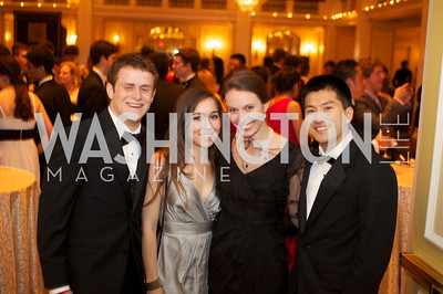 Nate Barker, Reagan Kuchan, Margaret Cekuta, Julian Fu an the 87th Annual Georgetown University Diplomatic Dance