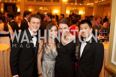 Nate Barker, Reagan Kuchan, Margaret Cekuta, Julian Fu an the 87th Annual Georgetown University Diplomatic Dance