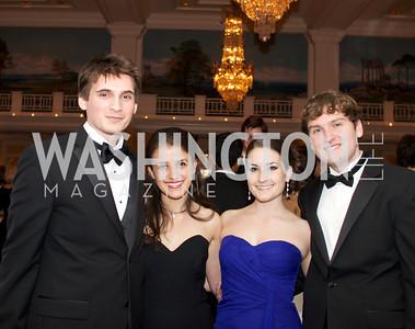 Mark Hanscom, Iveta Vakalova, Julia Helms, Keinan MeGinniss  and the 87th Annual Georgetown University Diplomatic Dance