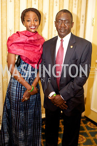 Alieu Momodou Ngum and Daughter, Sohna , Embassy of Gambia at the 87th Annual Georgetown University Diplomatic Dance