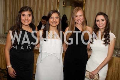 Cristal Villasenor, Parnia Zahedi, Caroline Epstein, Lauren Iannolo at the 87th Annual Georgetown University Diplomatic Dance