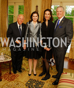 Alexandra de Borchgrave, Arnaud de Brochgrave, Diana Powell, Ned Powell, A Dinner for Carolina Herrera, May 2, 2012, Kyle Samperton