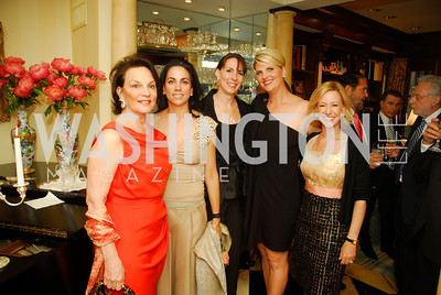 Grace Bender, Faith Diamond, Andrea Ferris, Alison Morrison, Nancy Lynn, A Dinner for Carolina Herrera, May 2, 2012, Kyle Samperton