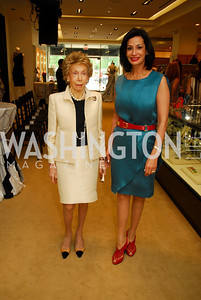 Ina Ginsburg, Moshira Soliman, A Presentation of Fall 2012 Oscar de la Renta Benefiting Global Health Corps at Saks Jandel, May 4, 2012, Kyle Samperton