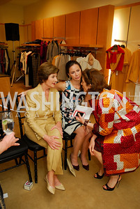 Laura Bush, Barbara Bush, Eliza Bolen, A Presentation of Fall 2012 Oscar de la Renta Benefiting Global Health Corps at Saks Jandel, May 4, 2012, Kyle Samperton