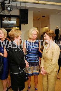 Judy Schilling, Mary Ourisman, Laura Bush, A Presentation of Fall 2012 Oscar de la Renta Benefiting Global Health Corps at Saks Jandel, May 4, 2012, Kyle Samperton
