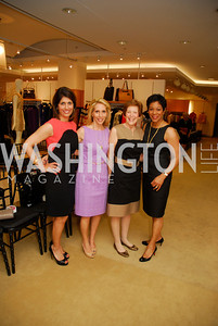 Monika Samtani, Dana Bash, Francie Schwartz, Andrea Roane, A Presentation of Fall 2012 Oscar de la Renta Benefiting Global Health Corps at Saks Jandel, May 4, 2012, Kyle Samperton